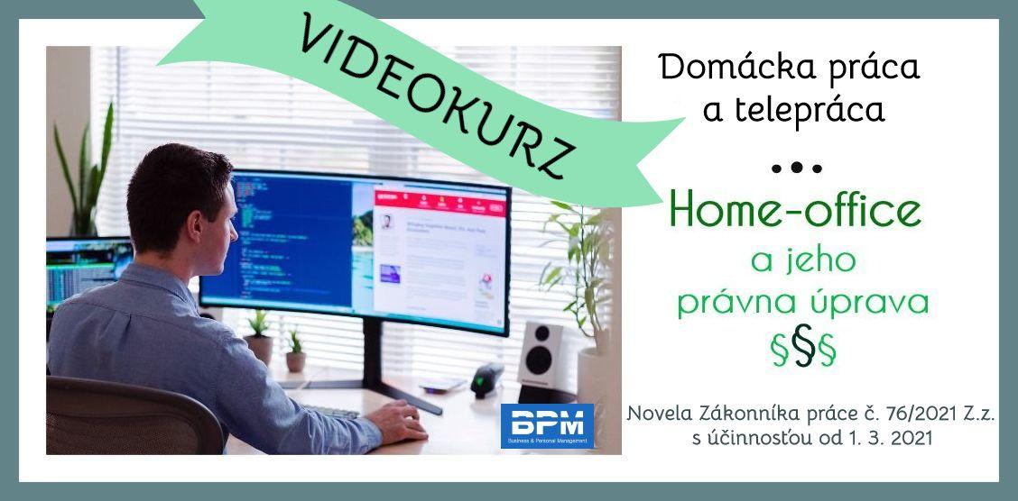 VIdeokurz Home office a jeho právna úprava