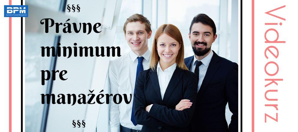 Videokurz Právne minimum pre manažérov